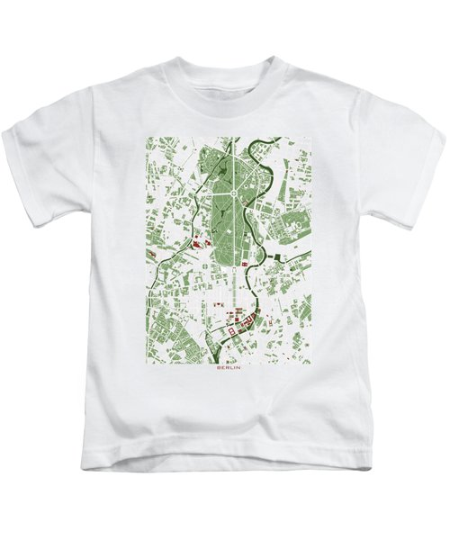 Berlin Minimal Map Kids T-Shirt by Jasone Ayerbe- Javier R Recco