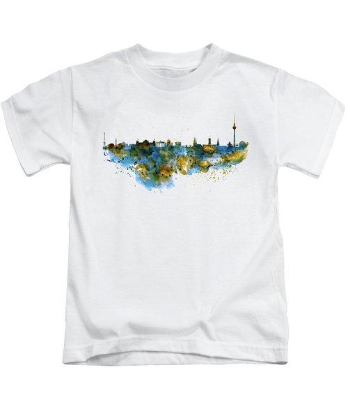 Berlin Watercolor Skyline Kids T-Shirt