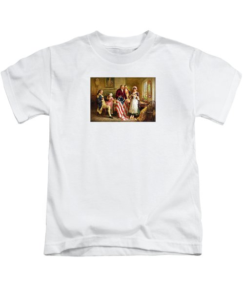 Betsy Ross And General George Washington Kids T-Shirt by War Is Hell Store