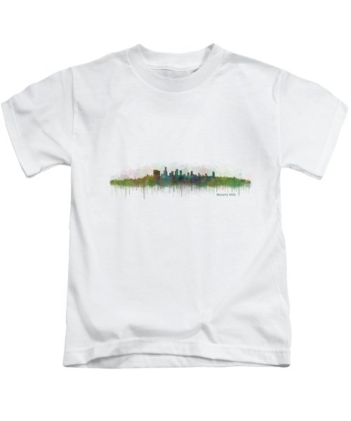 Beverly Hills City In La City Skyline Hq V3 Kids T-Shirt