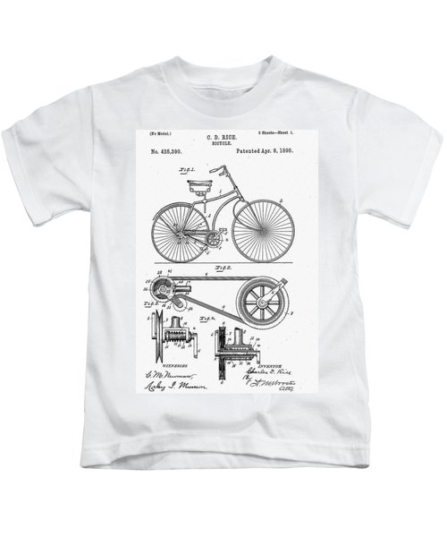 Bicycle Patent 1890 Kids T-Shirt
