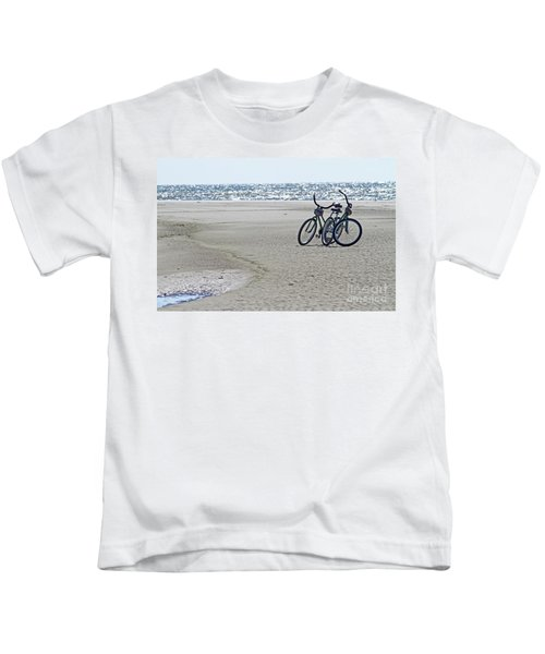 Bicycles On The Beach Kids T-Shirt