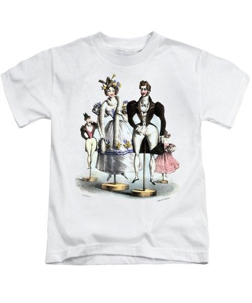 Biedermeier French Fashion -les Fashionables Kids T-Shirt