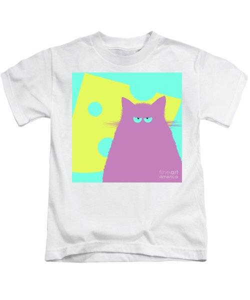 Big Cheese Lilac Cat Kids T-Shirt