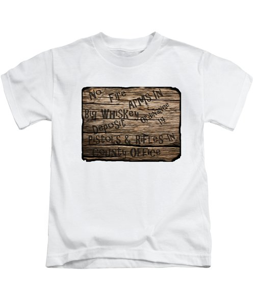 Big Whiskey Fire Arm Sign Kids T-Shirt