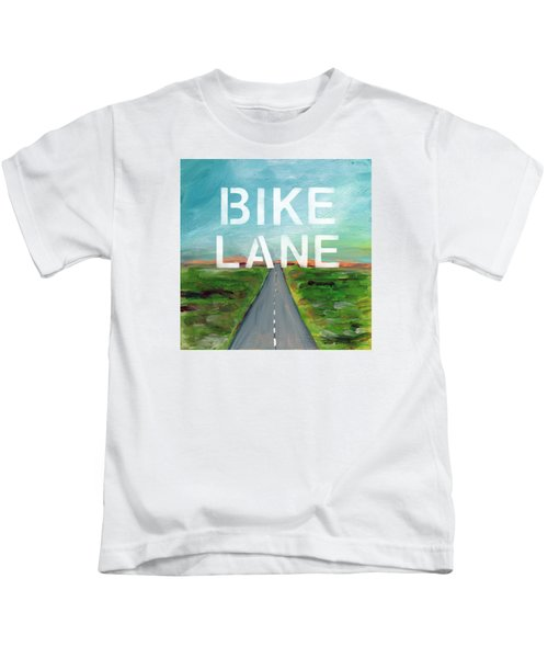 Bike Lane- Art By Linda Woods Kids T-Shirt