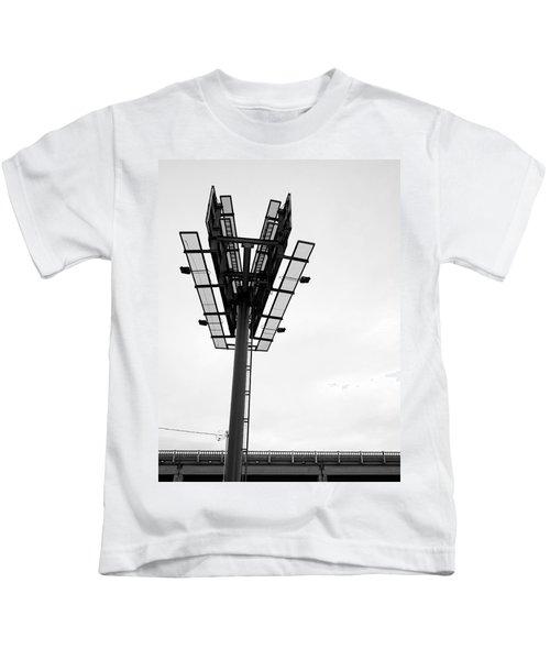 Billboard Above Interstate 15 In Helena Mt Kids T-Shirt