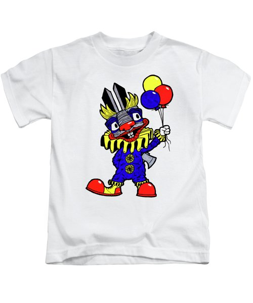 Binky The Bunny Clown Kids T-Shirt
