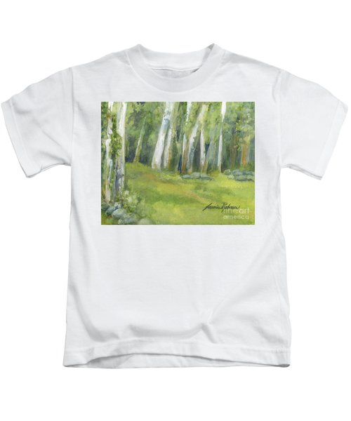 Birch Trees And Spring Field Kids T-Shirt
