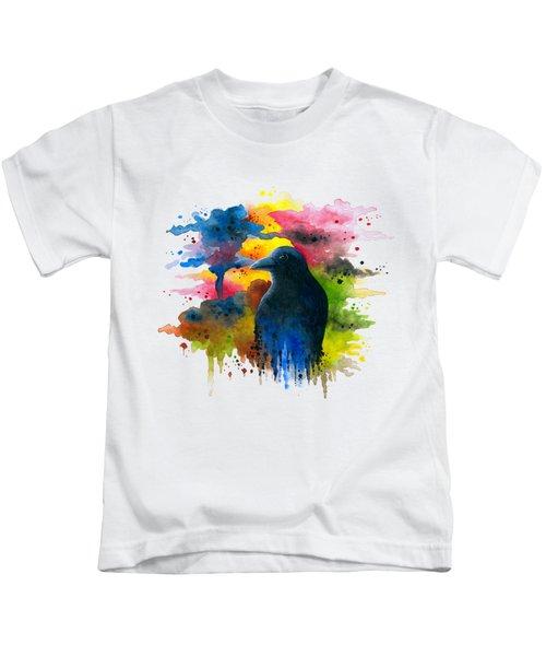 Bird 71 Crow Raven Kids T-Shirt