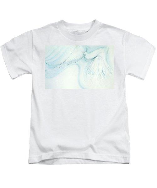 Bird In Flight Kids T-Shirt
