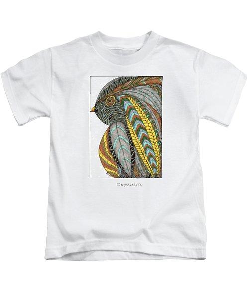 Bird_inquisitive_s007 Kids T-Shirt