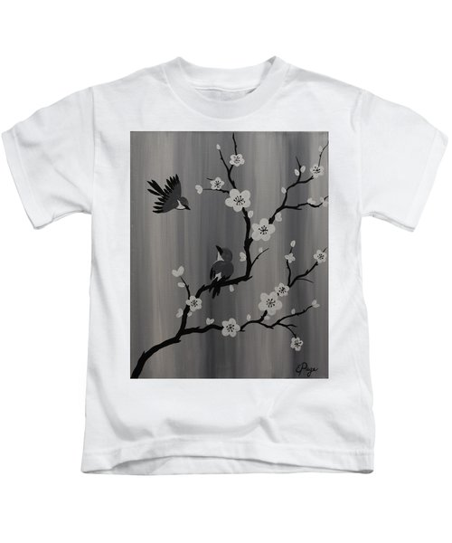 Birds And Blossoms Kids T-Shirt