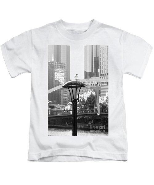 Birds Eye View Of The City Kids T-Shirt