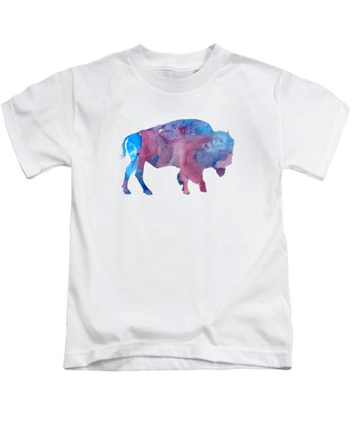 Bison Silhouette Kids T-Shirt