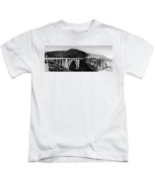 Bixby Bridge - Big Sur - California Kids T-Shirt
