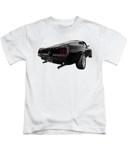 Black 1967 Mustang Kids T-Shirt