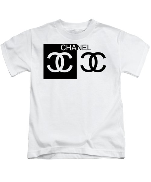 Black And White Chanel 2 Kids T-Shirt