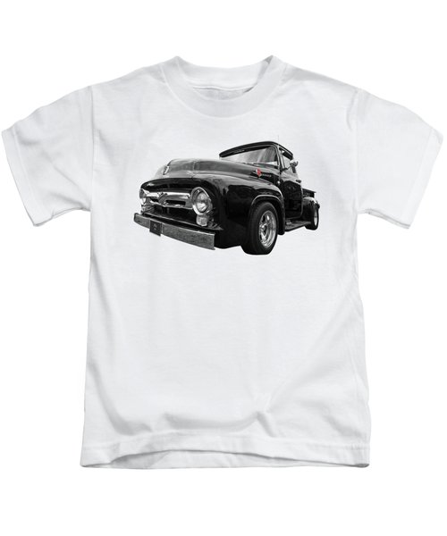 Black Beauty - 1956 Ford F100 Kids T-Shirt