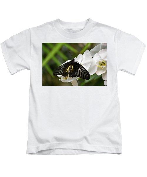 Black Butterfly Kids T-Shirt