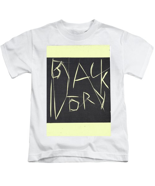 Black Ivory Title Page Kids T-Shirt