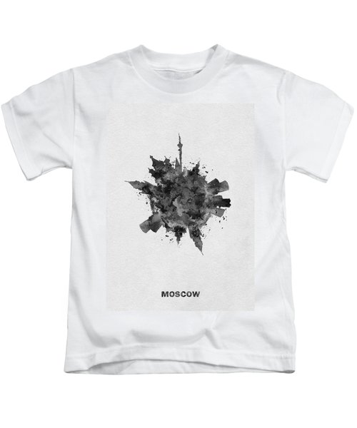 Black Skyround Art Of Moscow, Russia Kids T-Shirt