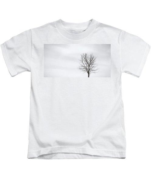 Black Tree White Sky Kids T-Shirt