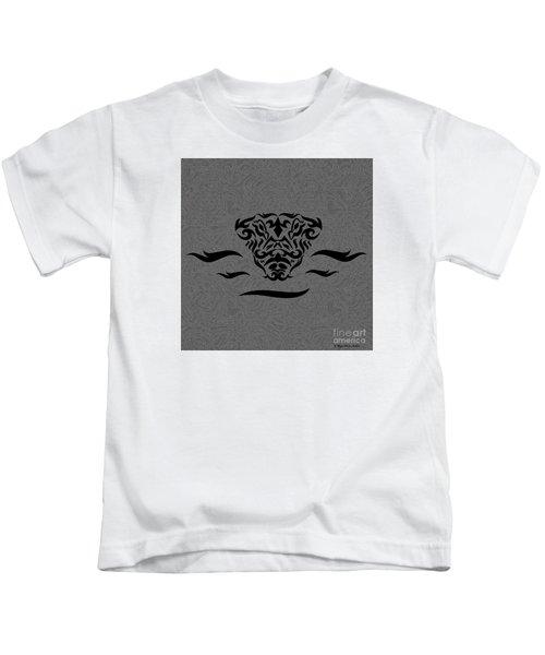 Black Tribal Gator Kids T-Shirt