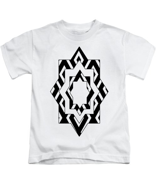 Black White Pattern Art Kids T-Shirt