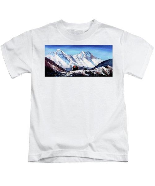 Black Yak On Everest Base Camp Kids T-Shirt