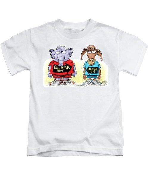 Blame Him Kids T-Shirt