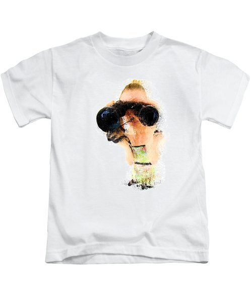 Blond Woman With Binoculars  Kids T-Shirt