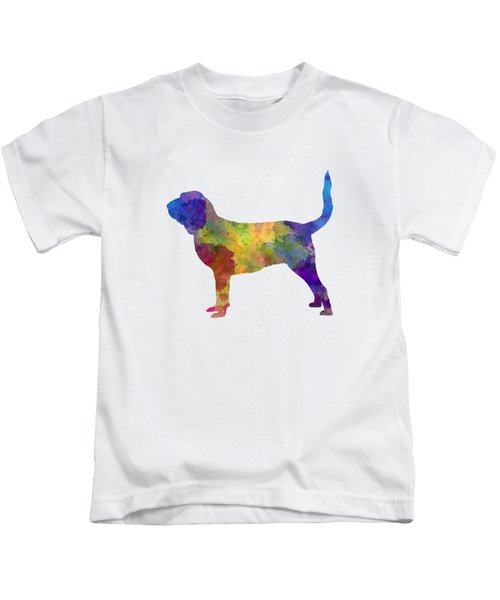 Bloodhound In Watercolor Kids T-Shirt
