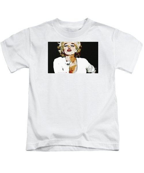 Blow Me A Kiss Marilyn Monroe In The Mix Kids T-Shirt