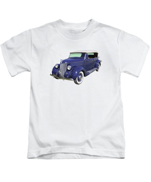 Blue 1936 Ford Phaeton Convertible  Kids T-Shirt