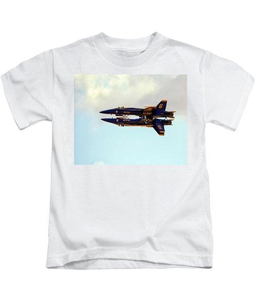 Kids T-Shirt featuring the photograph Blue Angels 1 by Gigi Ebert