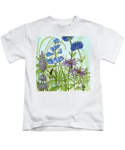 Blue Buttons Kids T-Shirt