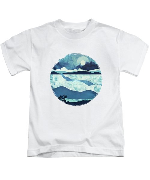 Blue Desert Kids T-Shirt by Spacefrog Designs