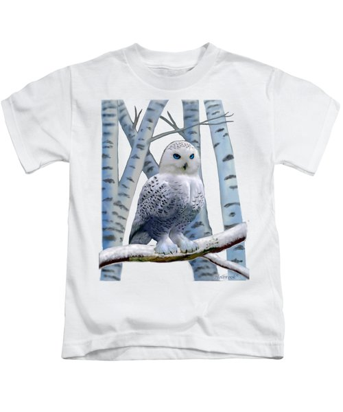 Blue-eyed Snow Owl Kids T-Shirt