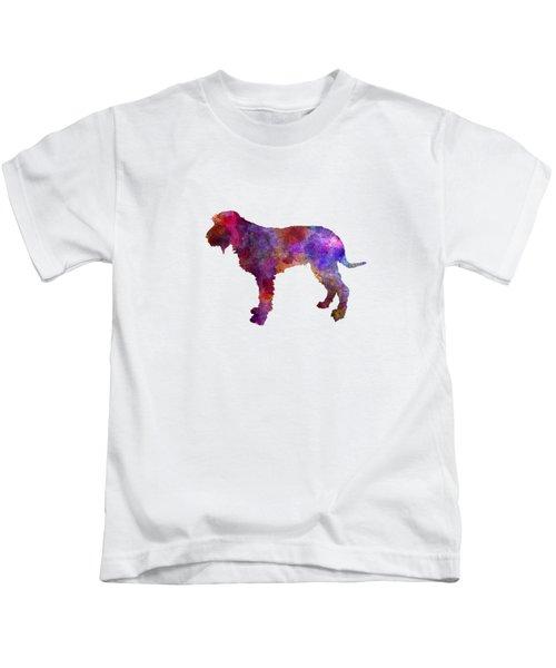 Blue Gascony Griffon In Watercolor Kids T-Shirt by Pablo Romero