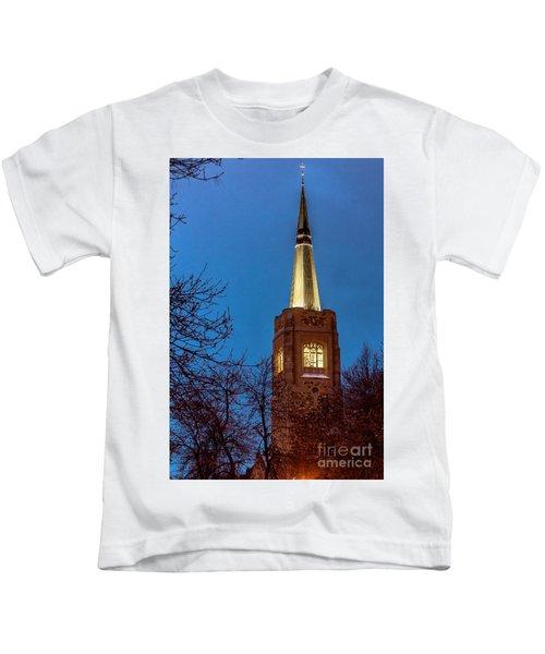 Blue Hour Steeple Kids T-Shirt
