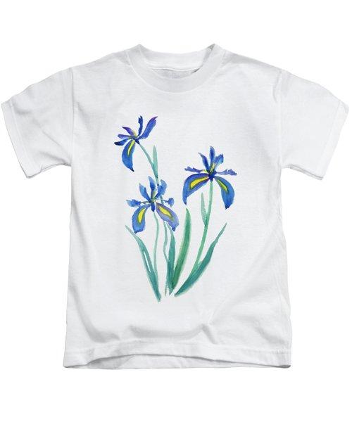 Blue Iris Kids T-Shirt by Color Color