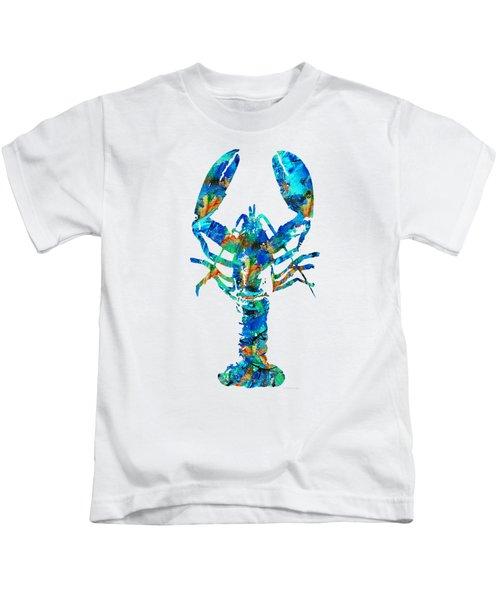 Blue Lobster Art By Sharon Cummings Kids T-Shirt