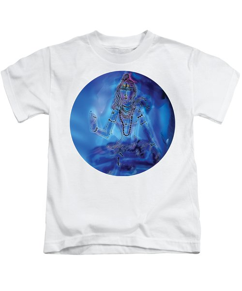 Blue Shiva  Kids T-Shirt