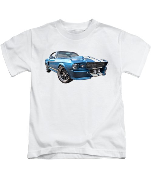 Blue Skies Cruising - 1967 Eleanor Mustang Kids T-Shirt