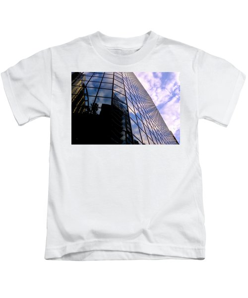 Blue Skyscrapper With A Blue Sky In New Orleans Louisiana Kids T-Shirt