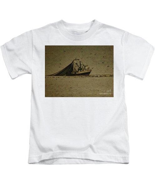 Blue Trawler 2 Kids T-Shirt