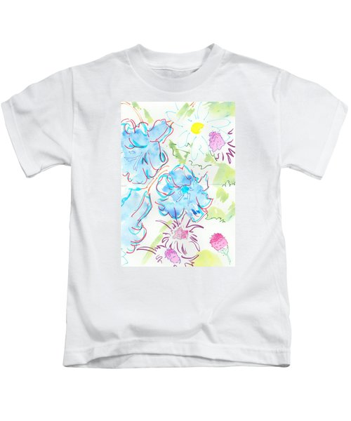 Bluebells English Wild Flowers Kids T-Shirt