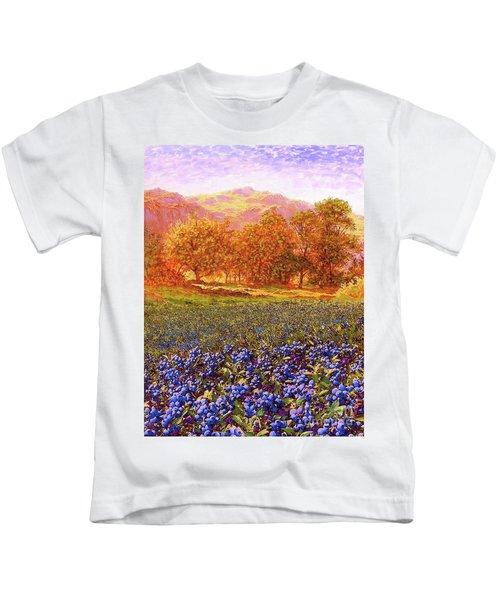 Blueberry Fields Kids T-Shirt