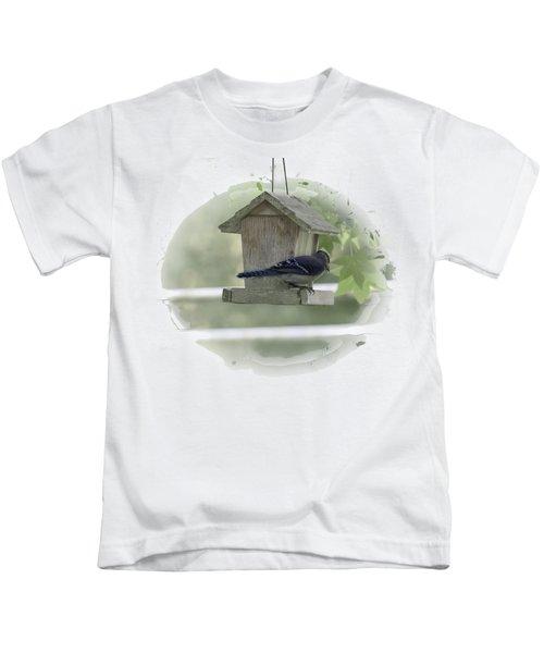 Bluejay Kids T-Shirt by Judy Hall-Folde